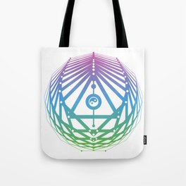 Radiant Abundance (white-cool gradient) Tote Bag