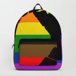 LGBT Pride Flag More Colors Raised Fist (More Pride) Backpack