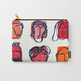 Red faces Carry-All Pouch