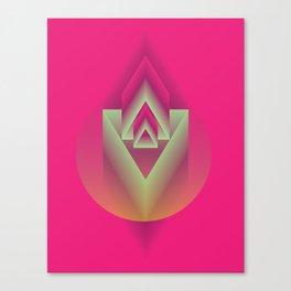 Pink Descent Canvas Print