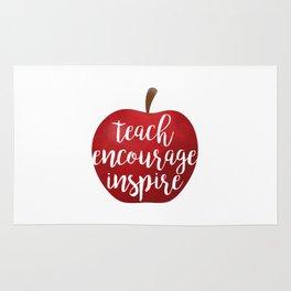 Teach Encourage Inspire Rug