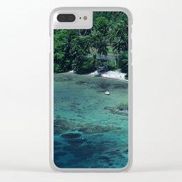Tahiti White Sand Beach Romantic Getaway Clear iPhone Case