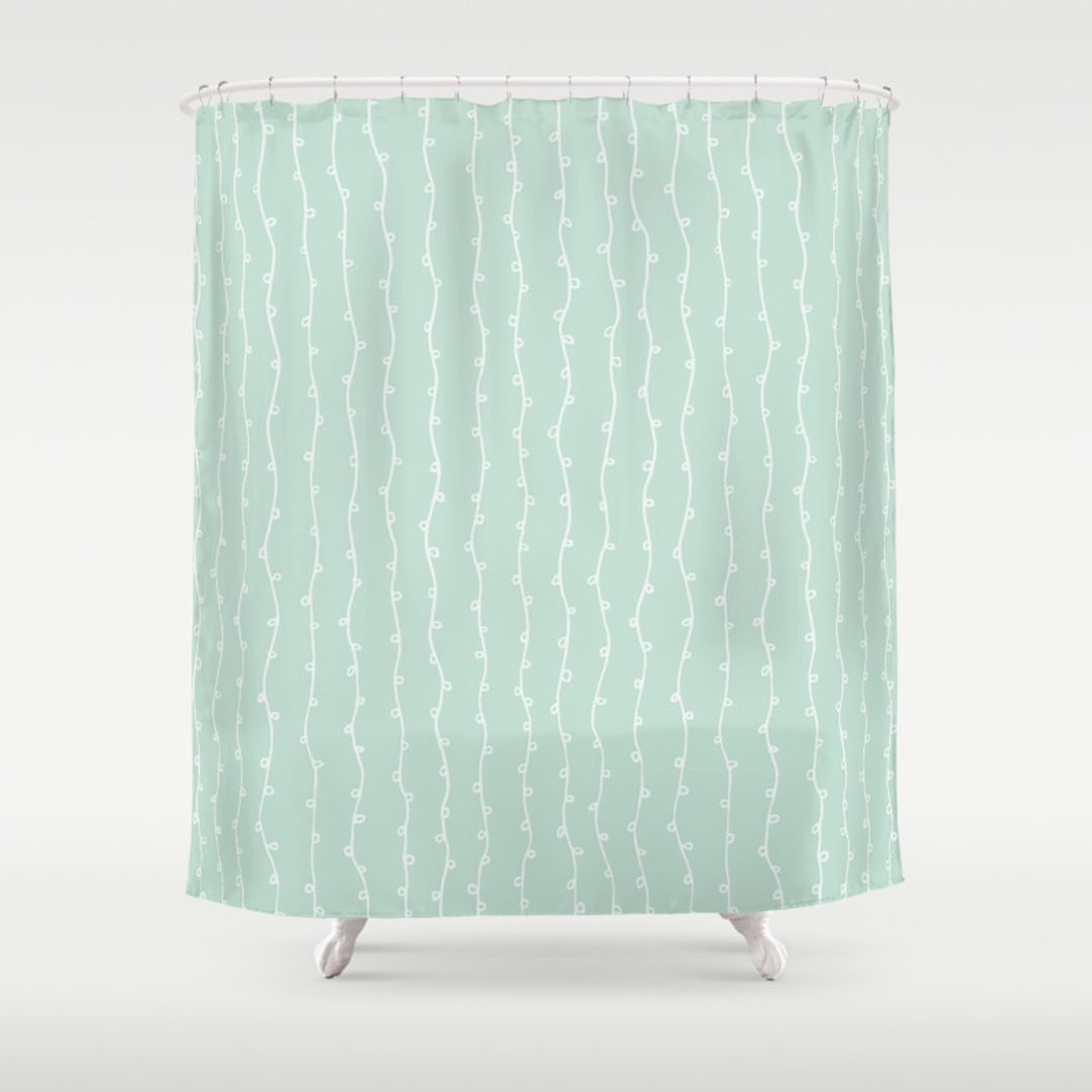 amazoncom tahari home shower curtain sprigs in blue and silv