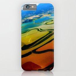 Bird View in Orange & Green   iPhone Case