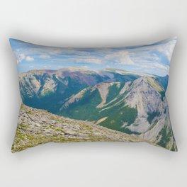 Views from the top of Sulphur Skyline in Jasper National Park, Canada Rectangular Pillow