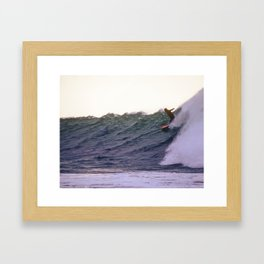 George Greenough Rides Rincon Point Framed Art Print