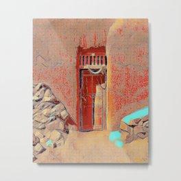 Santa Fe Door #7 Metal Print