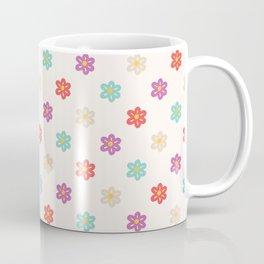 Abstract ivory teal orange violet cute floral Coffee Mug