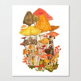 The Mushroom Gatherers  Canvas Print