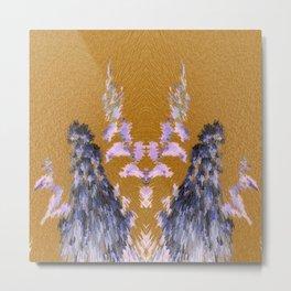 3-D Crepe Myrtle Inversion Metal Print