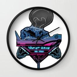Futuristic DJ Wall Clock