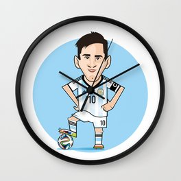 Best football player of the world: MESSI! Wall Clock