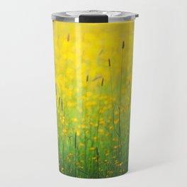Field green yellow Travel Mug