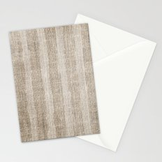 Striped burlap (Hessian series 3 of 3) Stationery Cards