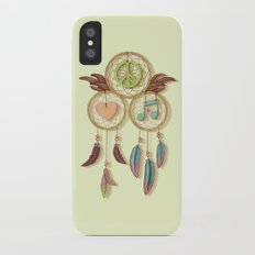 Peace, Love and Music iPhone X Slim Case