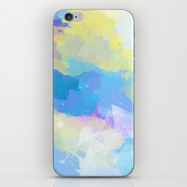 Colorful Abstract - blue, pattern, clouds, sky iPhone Skin