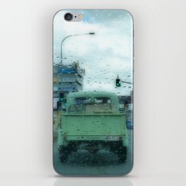 Rainy Days and Vintage Vehicles iPhone Skin