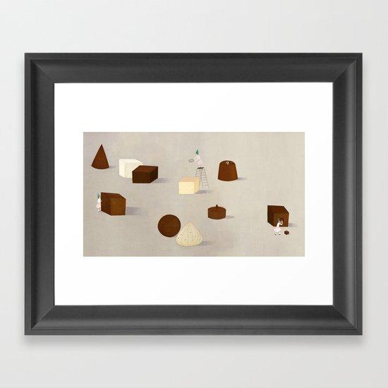 CHOCOLATE PHILOSOPHY Framed Art Print