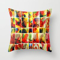 quilt Throw Pillows featuring Quilt by Jose Luis