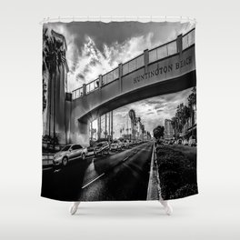 Welcome To Surf City Shower Curtain