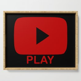 Play Button Serving Tray