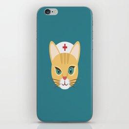Nurse Cat ~ Teal iPhone Skin