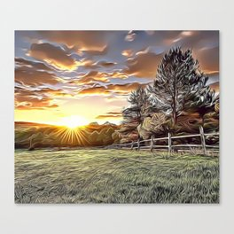 Sunshine Farm Airbrush Artwork Canvas Print