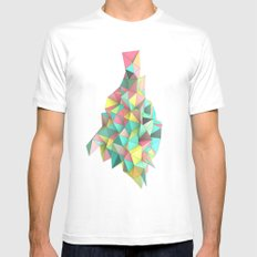 Origami II Mens Fitted Tee MEDIUM White