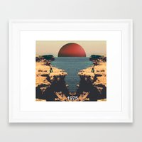 1975 Framed Art Prints featuring 1975 by RICCARDO CAPPELLUTI