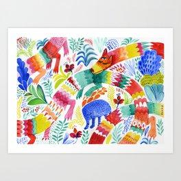 Floral Dragon Art Print