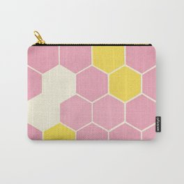 Pink Honeycomb Carry-All Pouch