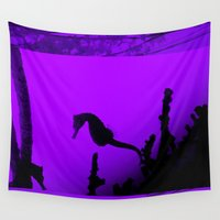seahorse Wall Tapestries featuring Seahorse by Sara Eshak