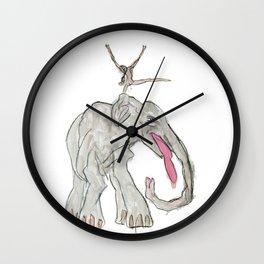 Elefant Maedchen Wall Clock