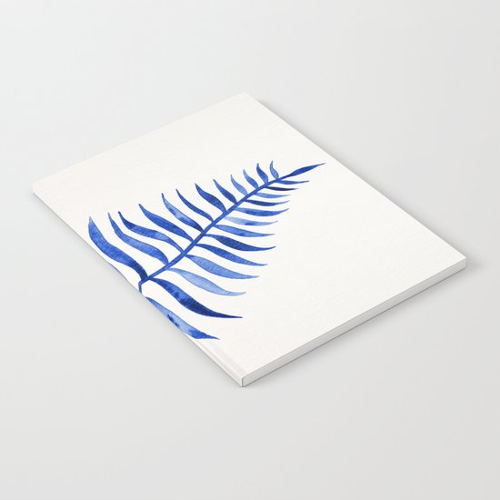 Navy Palm Leaf Notebook