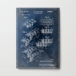 1961 building brick patent Metal Print