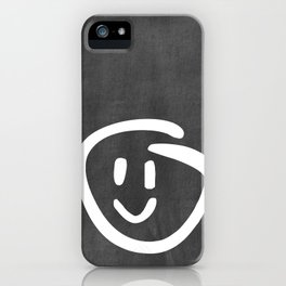 Chalkboard Wallies iPhone Case