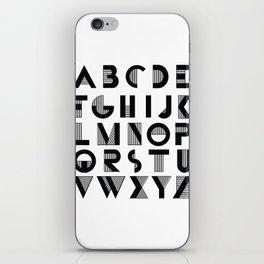 Deco Alphabet iPhone Skin