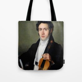 Portait of young Niccolò Paganini Tote Bag