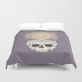 skull candle Duvet Cover