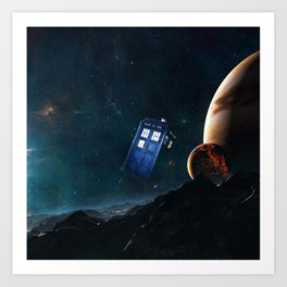 tardis doctor who Art Print
