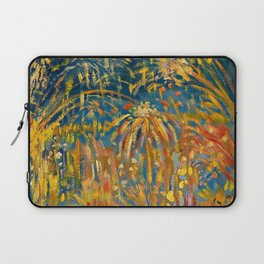 Colorful Summer Fireworks in Nice, France landscape by Nicolai Tarkoff Laptop Sleeve
