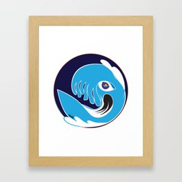 Waveboarder Smiley Framed Art Print