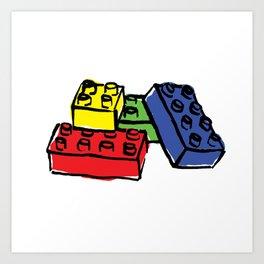Multi Building Blocks Art Print