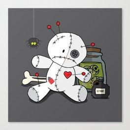 Voodoo doll shelf Canvas Print