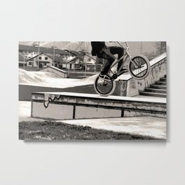 Wheelie Master  - BMX Biker Metal Print