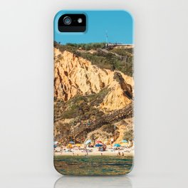 People On Praia do Camilo (Camel Beach) In Portugal, Travel Photo, Large Printable Photography iPhone Case