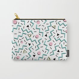 Back to the 80's eighties, funky memphis pattern design Carry-All Pouch