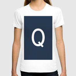 LETTER Q (WHITE-NAVY BLUE) T-shirt