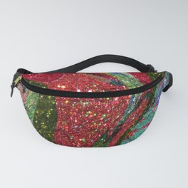 Retro Glitter Sky - Red Green Palatte Fanny Pack