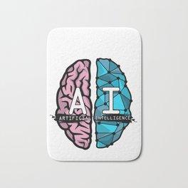 AI Nerd design - Artificial Intelligence Brain graphic Bath Mat